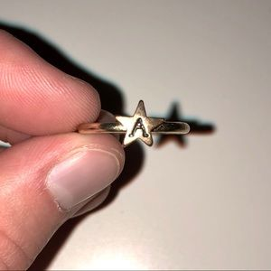 'A' Star Ring